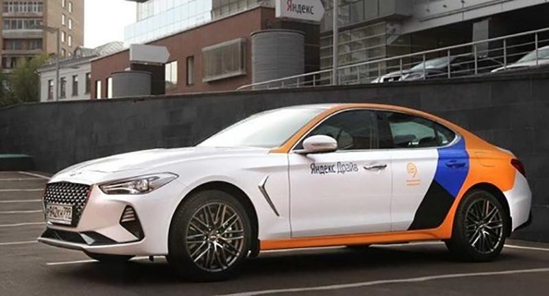Новая модель Hyundai Genesis появилась в Яндекс Драйв в Казани